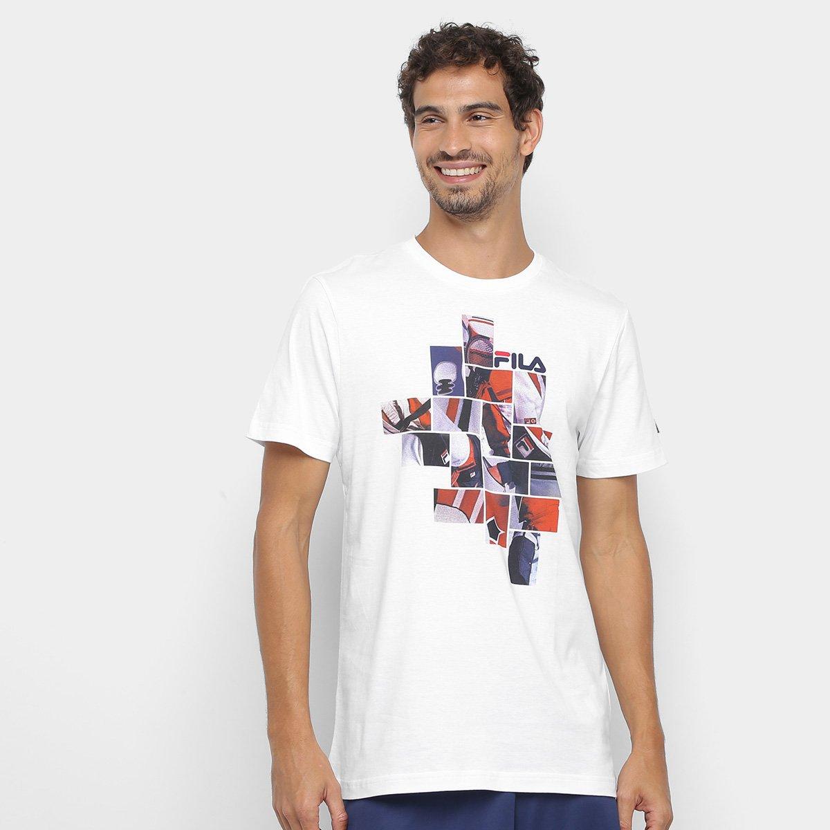 Camiseta Fila Collage Masculina