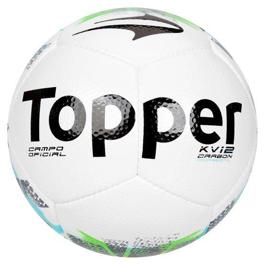 Bola Futebol Campo Topper KV Carbon Oficial - Compre Agora  1f3f13c1cac1d