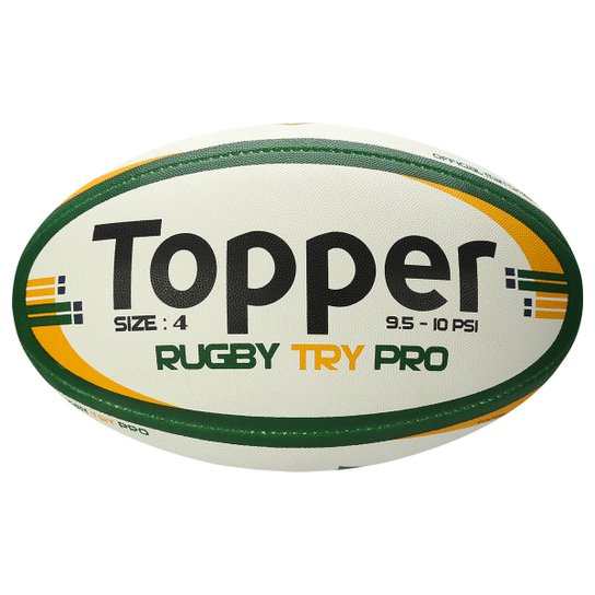 Bola Rugby Topper Try N4 - Branco+Verde. Loading. f949b022a2555