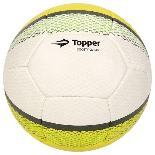 22e3243b3488b Bola Futebol Topper Trivela Society - Branco+Verde