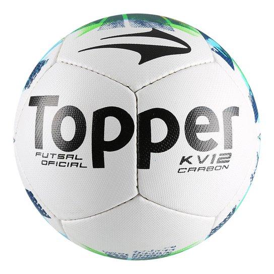 Bola Futsal Topper KV Carbon II - Branco+Marinho 57651648e0db9