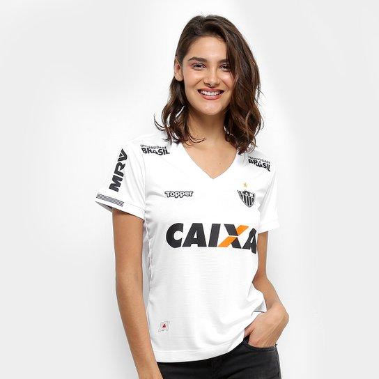 89fba588f9362 Camisa Atlético Mineiro II 2018 S N° Torcedor Topper Feminina - Branco