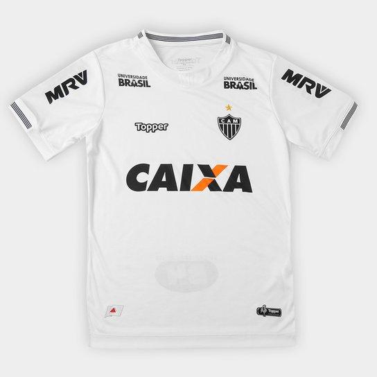 Camisa Atlético-MG Infantil II 2018 S N° Torcedor Topper - Branco ... 20582ad9dbca5