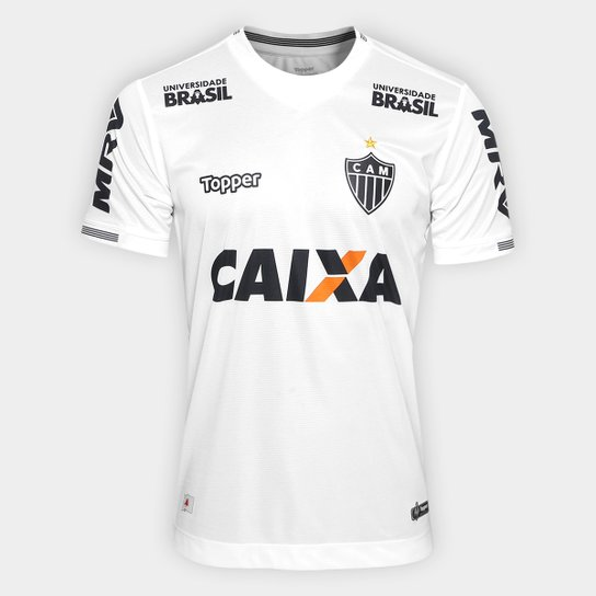 c6d46e2817d8e Camisa Atlético-MG II 2018 S N° Torcedor Topper Masculina - Branco ...