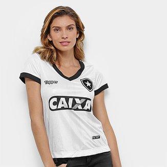 Camisa Botafogo III 2018 s n° Torcedor Topper Feminina c5508364ff260