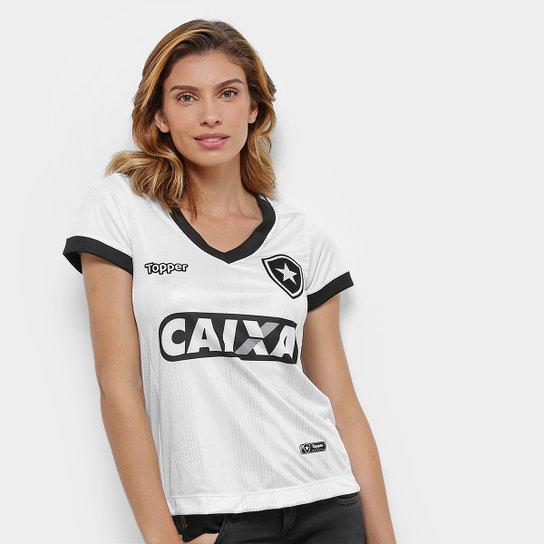 e92645c9bbcb5 Camisa Botafogo III 2018 s n° Torcedor Topper Feminina - Branco ...
