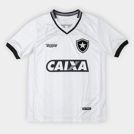 81285eed99 Camisa Botafogo Infantil III 2018 s n° Torcedor Topper - Branco ...