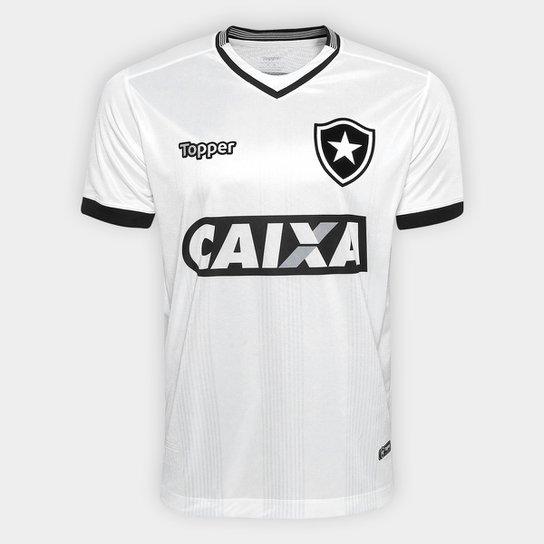 588d0bfa06b83 Camisa Botafogo III 2018 s n° Torcedor Topper Masculina - Branco ...