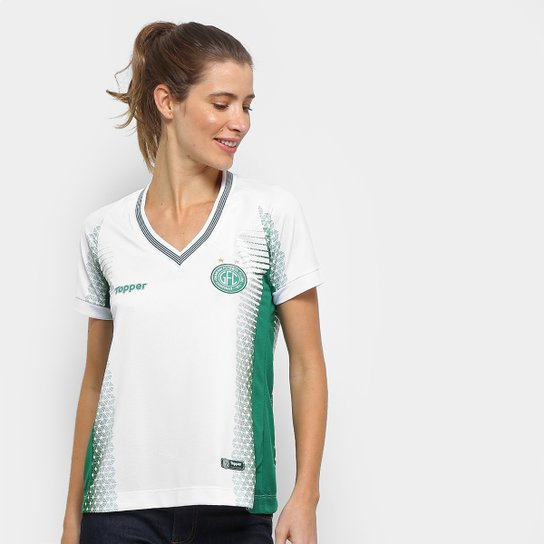 Camisa Guarani II 2018 s n° - Torcedor Topper Feminina - Branco+Verde 7c65315498e9c