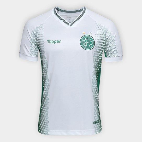 197cda1541d97 Camisa Guarani II 2018 s n° - Torcedor Topper Masculina - Branco+Verde