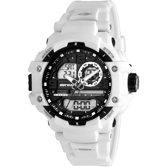Relógio Mormaii MO09498C - Branco - Compre Agora   Netshoes bfd42658fb