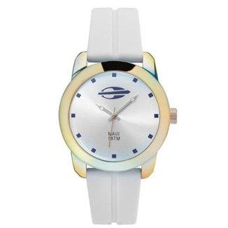 Compre Relogio Masculino Branco Online   Netshoes c62417bd19