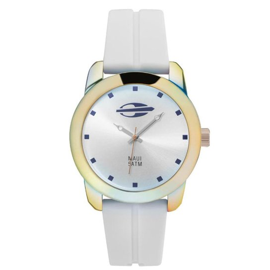 Relógio Analógico Mormaii Maui Mo2035He 8K - Branco - Compre Agora ... fb0dc70cc7