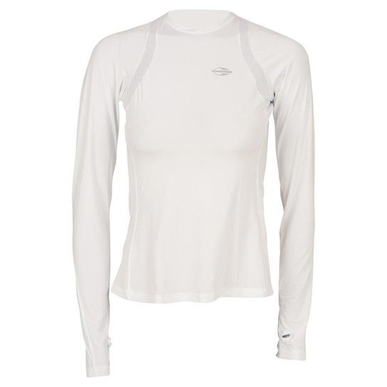 Camiseta Mormaii Manga Longa Feminino Uv Dry Flex - Branco - Compre ... 8526e5c2ffb25