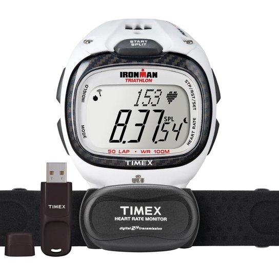 f74549883c7 Relógio Timex Masculino Ironman Race Trainer T5K490F7 TI Branco T5K490F7 TI  - Branco