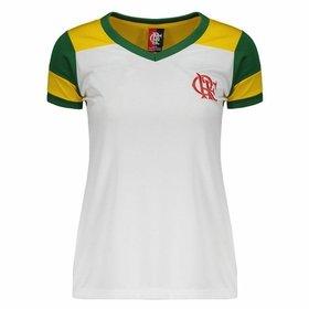 (2). Camisa Flamengo Brasil Retrô Feminina b8a38828f1380