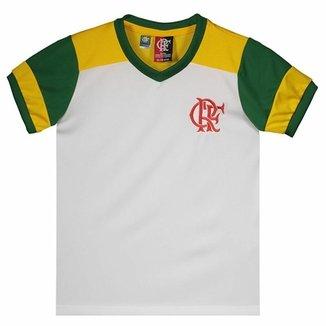 dfb6fd0a85 Camisa Brasil Flamengo Retrô Infantil