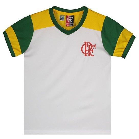 321800ee305d6 Camisa Brasil Flamengo Retrô Infantil - Branco - Compre Agora
