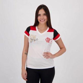 c49c1ef793 Camisa Flamengo Zico Retrô Feminina