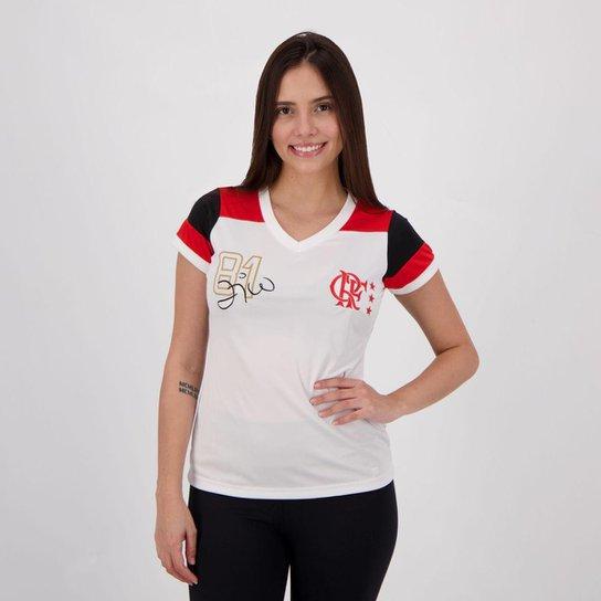 Camisa Flamengo Zico Retrô Feminina - Branco - Compre Agora  54363c48bdadd