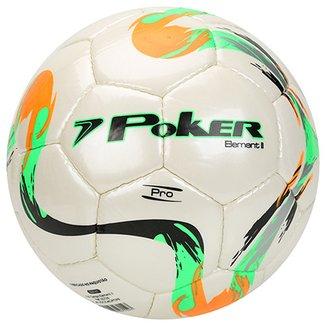 8c59dc69fd085 Bola Futebol Campo Poker Cristal Element 2 Pro Com Costura