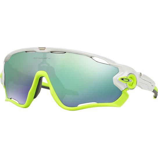 123fd1e41 Óculos Oakley Jawbreaker - Iridium - Branco+Verde