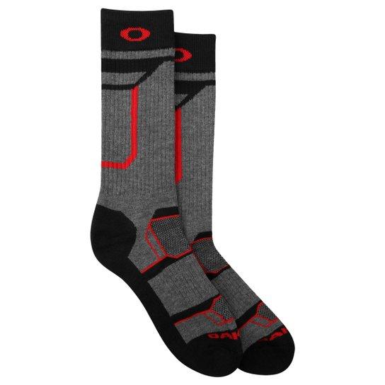 Meia Oakley Sport Crew Sock - Chumbo+Vermelho 0c978484561