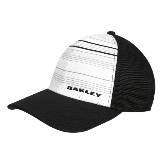 Boné Oakley Aba Curva Silicone Bark Trucker Print 2.0 Masculino - Branco+ Preto 25b7c421eae