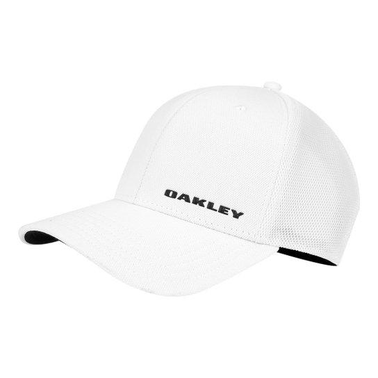 Boné Oakley Aba Curva Silicon Bark Trucker 4.0 Masculino - Branco ... cfe24b6184736