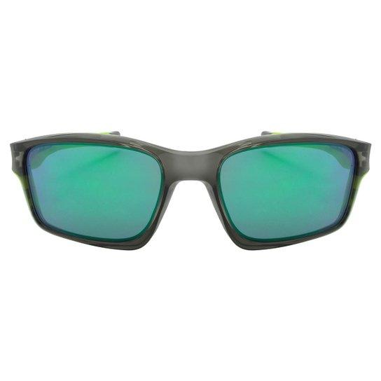 bb0c70489 Óculos de Sol Oakley Chainlink OO9247 - Matter Black / Fire Iridium -  Cinza+Verde