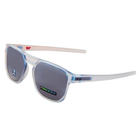 Óculos Oakley Latch Beta Matte Clear  Lente Prizm Black Iridium - Branco 2399241a91