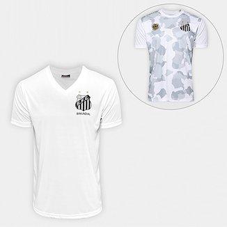 7eed11dcce Camisa Santos 2001 S N° + Camiseta Santos Kappa Vila Belmiro 17