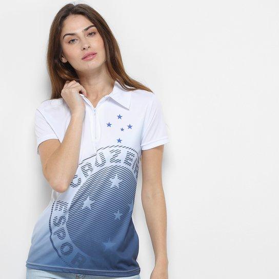 Camisa Polo Cruzeiro Shadow Feminina - Branco - Compre Agora  72a09fad100a0