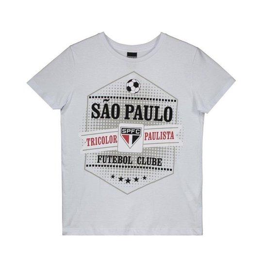 ea2df2a9c2f Camiseta São Paulo Joy Infantil - Branco - Compre Agora