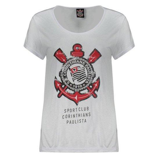 2ea91445ee Camiseta Corinthians Collins Feminina - Branco - Compre Agora
