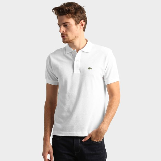8b41b3c8b644d Camisa Polo Lacoste Original Fit Masculina - Branco - Compre Agora ...
