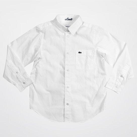 Camisa Lacoste Infantil M L - Compre Agora   Netshoes 560bf81789