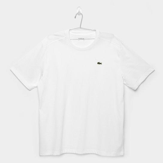 0eaad056c58e0 Camiseta Lacoste Gola Careca - Branco - Compre Agora