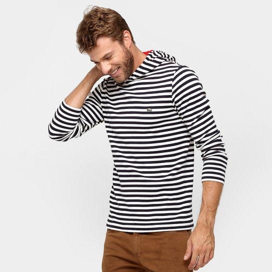 598b29b66cb Camiseta Lacoste Listras Capuz - Compre Agora