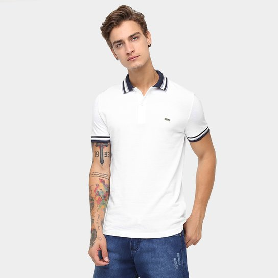 db7a7f46238aa Camisa Polo Lacoste Piquet Fancy Slim Fit - Compre Agora