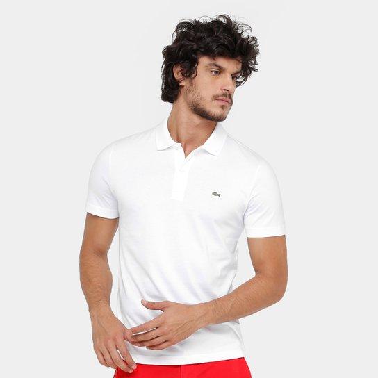772c528d2cc Camisa Polo Lacoste Malha Original Fit Masculina - Branco - Compre ...