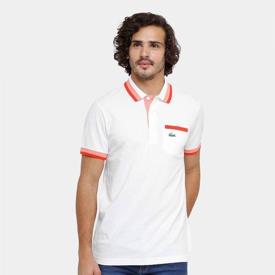 Camisa Polo Lacoste Bolso Botão Masculina - Compre Agora   Netshoes db3af122d0