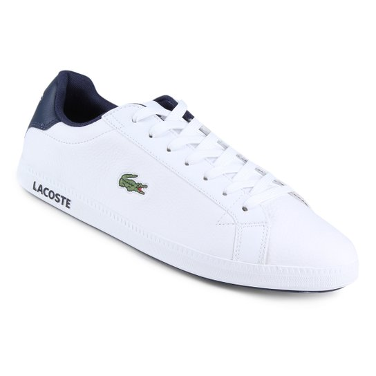 Tênis Couro Lacoste Gradt Lcr3 Bkbk Masculino - Branco - Compre ... 58bfdebd84