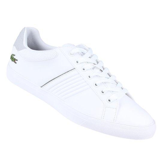 4c8d0bb60984a Tênis Couro Lacoste Flead Masculino - Branco - Compre Agora   Netshoes