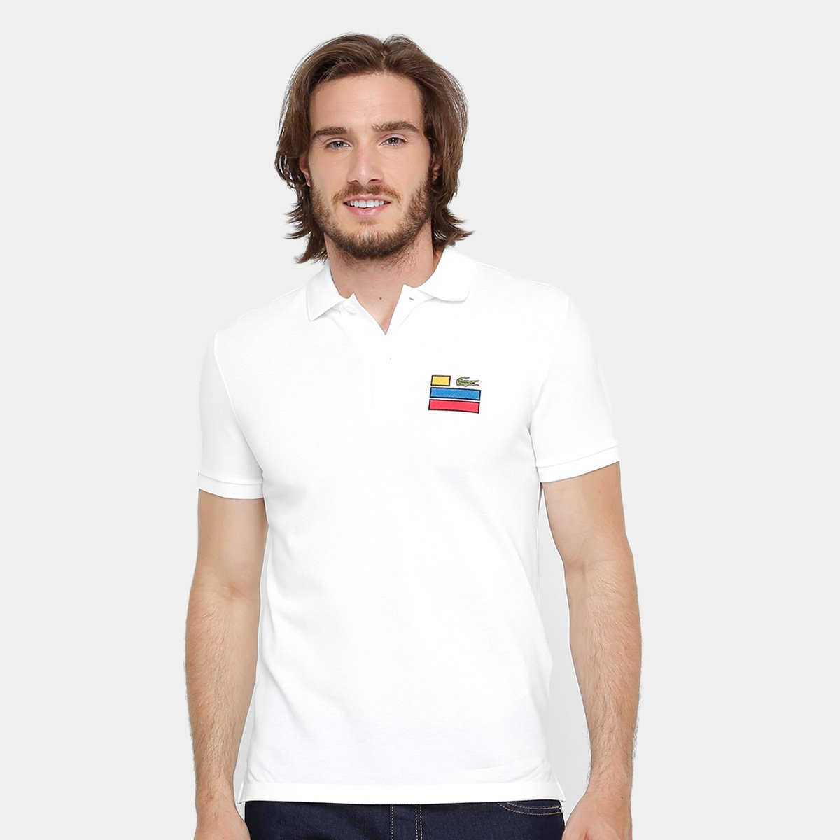 00df48284104e Camisa Polo Lacoste Slim Fit Fancy Masculina