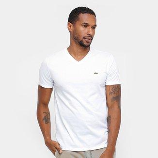 Compre Camiseta Gola V Lacoste Online   Netshoes ffb42f1c5b