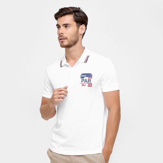 479a491a7d6f6 Camisa Polo Lacoste Piquet Fit Paris Masculina - Branco - Compre ...