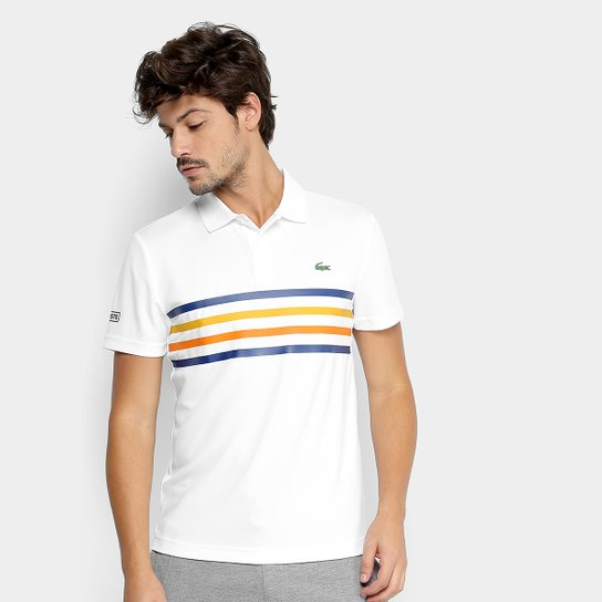 Camisa Polo Lacoste Sport Tennis Masculina - Branco - Compre Agora ... 6a554b078b6dd