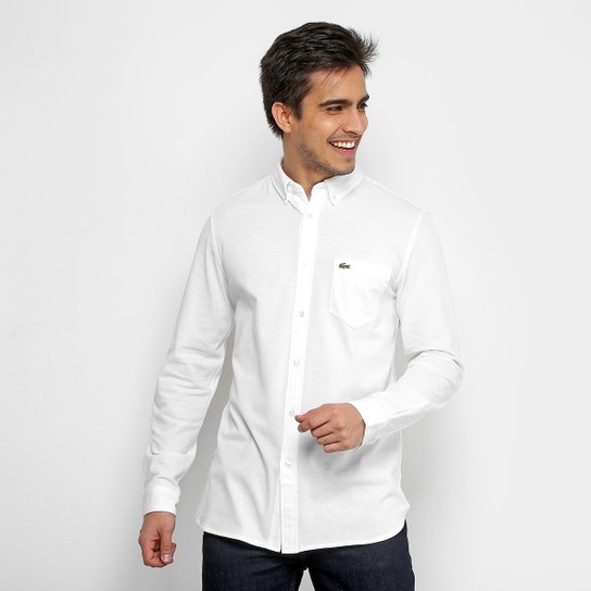 Camisa Social Lacoste Clássica Manga Longa Masculina - Compre Agora ... f25004a4d2