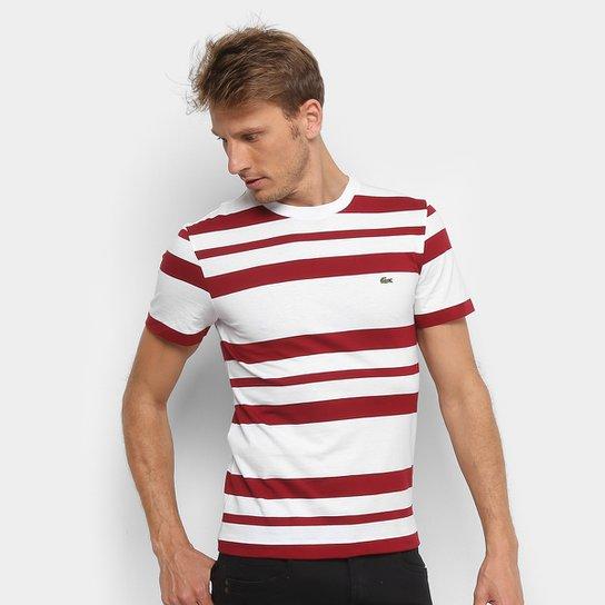 443f107929b1c Camiseta Lacoste Listrada Masculina - Compre Agora   Netshoes